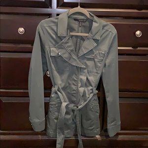 White House Black market military green light coat